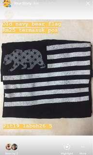 Old navy bear flag
