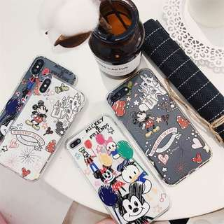 SOFT CASE IPHONE MOTIF MICKEY / MINNIE MOUSE