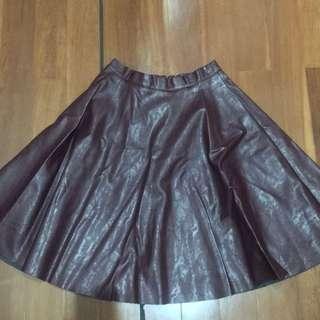 Burgundy / Maroon A line Skirt