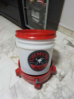 Chemical guys bucket with dolly