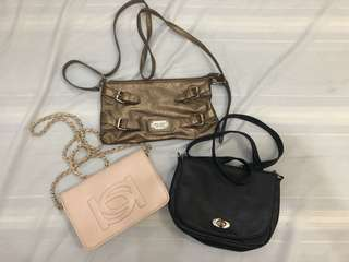 3 branded bags for 700 (click for solo pic)