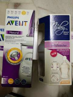 Philips Avent Natural bottle + Nuby