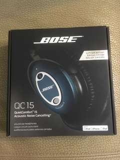 Bose QuietComfort QC 15 Noise Cancelling Limited Edition 藍色