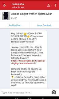 6th time Highly Rated seller.Thank you carousell buyer.