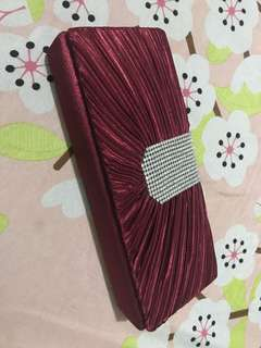 Maroon/Dark Red Clutch Bag