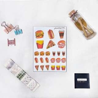 Fast Food Sticker Set