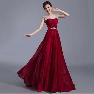 Stunning Evening Dress Long Prom Dress Party Gown Bridesmaid Dress