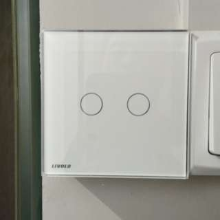 Wall Switch by touch, for lights, with LED glow in dark (double, type 86)