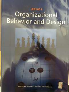AB1601 Organisational Behavior and Design Textbook