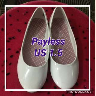 Payless white flats for girls
