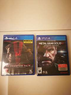 Ps4 Games - Metal Gear Solid V The Phantom Pain and Ground Zeroes