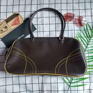 Prada特價 保齡球袋手挽袋hand carry bag