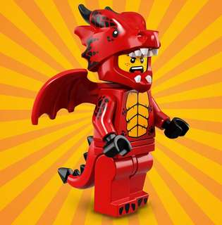 Lego Minifigures Series 18 Red Dragon Suit Guy