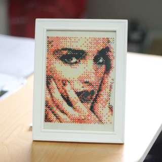 Finished Cross Stitch Mosaic Pop Art Design
