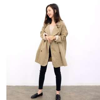 Korean Light Trench Coat / Outerwear