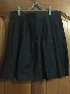 Navy Japanese School Girl Skirt