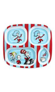 Bumkins Dr. Seuss Melamine Dishware, Blue Cat in the Hat Toddler Baby Plate