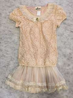 Korean style lace dress