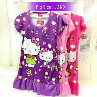 *FREE DELIVERY to WM only / Ready stock, 2pcs RM40*  Kids hello kitty dress J260 each as shown in design/color purple XL, pink L 2XL, rose L, pink L XL.  Free delivery is applied for this item.