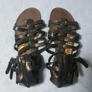 Black Gladiator strappy sandals (US size 9.5)
