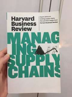 Managing supply chain Harvard Business Review
