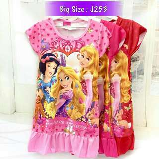*FREE DELIVERY to WM only / Ready stock, 2pcs RM40*  Kids princess dress each as shown in design/color pink L.  Free delivery is applied for this item.