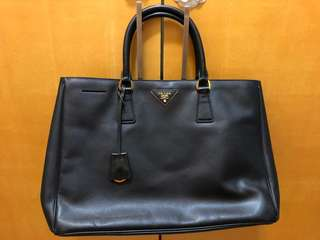 Prada leather classic tote bag 真皮經典手袋