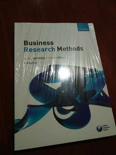 Business Research Methods, by Alan Bryman and Emma Bell,  3rd Edition