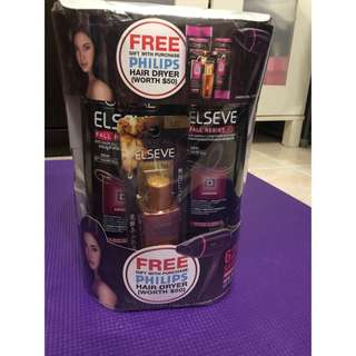 Loreal shampoo & conditioner with free hair dryer