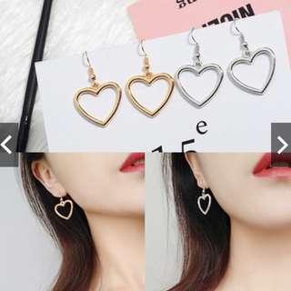 *FREE MAILING*INSTOCKS*Korean Sweet-Heart Shaped Geometric Earrings