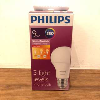Philips sceneswitch 9W LED night light bulb