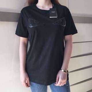 Auth Fendi Monster black shirt