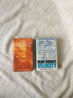 The Taking & Velocity by Dean Koontz (Fiction Book)
