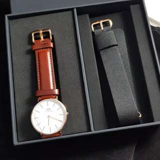 Daniel Wellington Classic Black ST.Mawes (36mm)