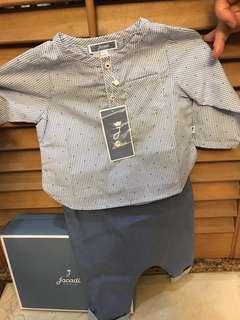 Jacadi Paris 6M 恤衫西褲套裝 set with shirt and trousers