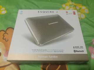 Brand new sealed harman kardon esquire 2 gold wireless speaker not bose jbl ue boom sony