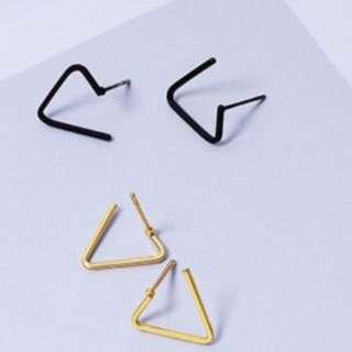 *FREE MAILING*INSTOCKS*Korean Geometric Triangle Earrings