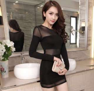 Instock: Sexy Mesh Party Dress S
