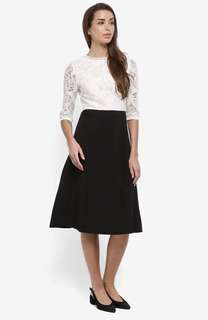 BYSI Lace Contrast Flare Dress