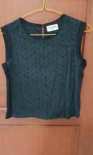 This is april eyelet top