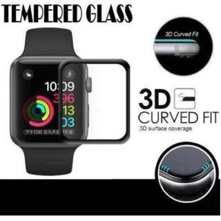 Apple Watch 3D 曲面全屏包邊玻璃貼 Screen Protector 38/42mm