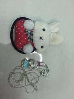 🐰Bunny Bundle Hairtie Necklace Cute Sweet🐰