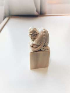 Mammoth Ivory carving- Seal 猛犸象牙貔貅印章