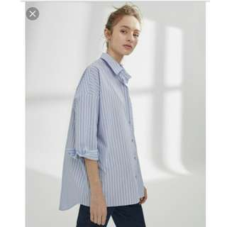 H&M loose striped shirt