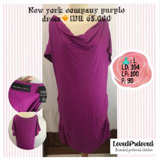 Ney york company purple loose dress