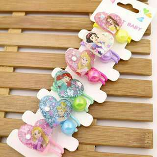 *FREE DELIVERY to WM only / Ready stock* Kids princess / pony hair tie set as shown in design/color. Free delivery is applied for this item.