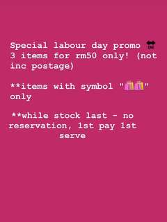 Special Labour Day Promo (Limited time only!)