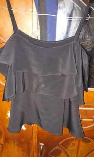 Blouse Cut off shoulder black
