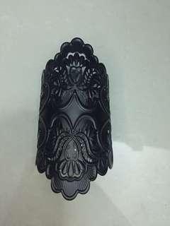 Black bracelet antique design