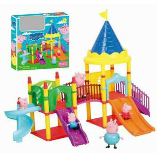 *FREE DELIVERY to WM only / Ready stock* Kids peppa pig amusement park toy set each as shown in design/color. Free delivery is applied for this item.